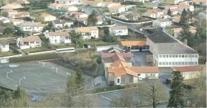 Photo aérienne Collège