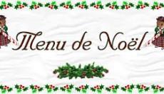 Menu de Noël au self
